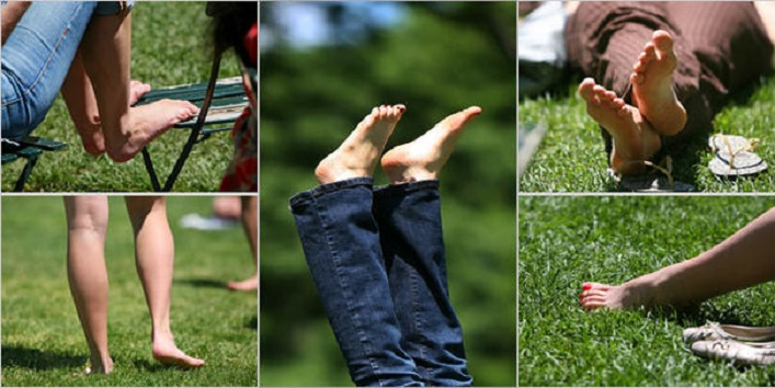 walking barefoot can cure old pains