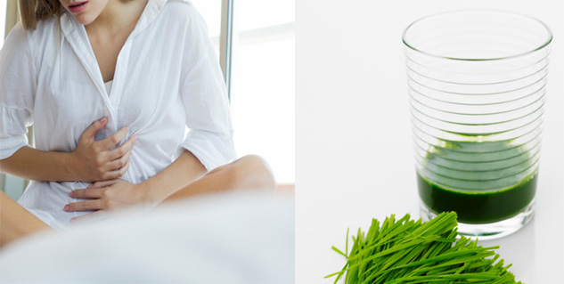 wheat grass for period pain in hindi