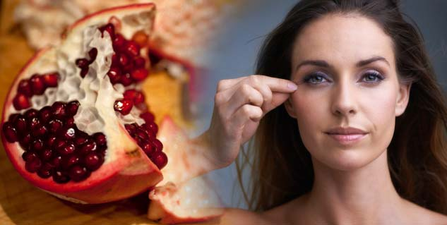 pomegranate peel for wrinkles in hindi